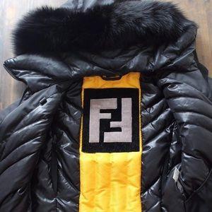 Authentic FENDI Jacket with detachable fur hood